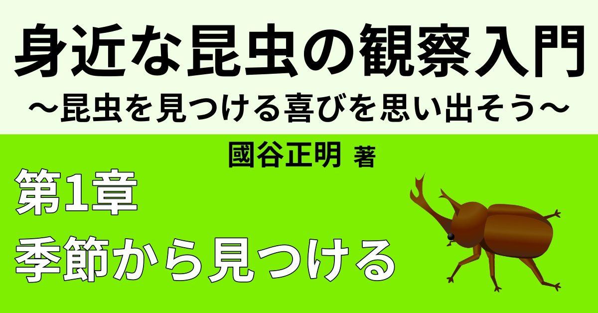 昆虫たちの【冬】の越し方