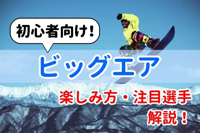 【初心者向け】ビックエアの楽しみ方解説!注目選手紹介!